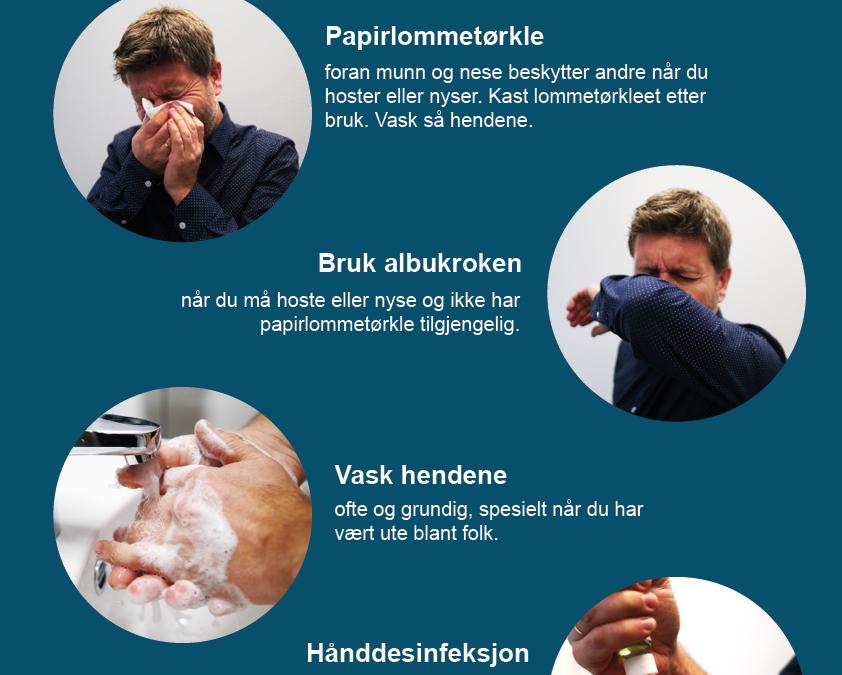 KOLLEKTIV DUGNAD: Våre tiltak vedrørende koronaviruset